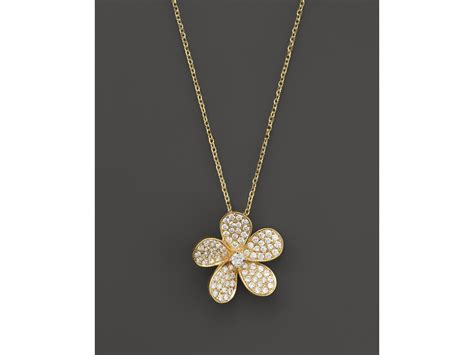 flower design necklace lyst kc designs diamond flower pendant necklace in 14k