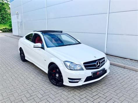 mercedes c class amg white 2011 61 mercedes c220 cdi amg sport coupe white