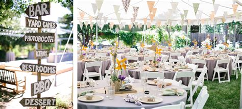 backyard bbq wedding ideas back yard wedding reception ideas