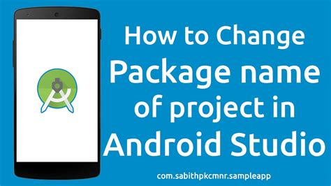 change package name android studio how to change android studio project package name without errors
