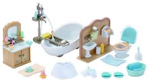 White Full Bedroom Set sylvanian families country bathroom set collectibles