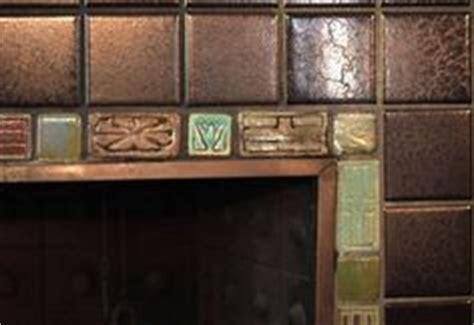 pewabic pottery on pottery tile fireplace and