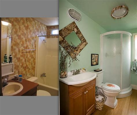 how to remodel a mobile home bathroom inspiring before and after pics of an interior designer s