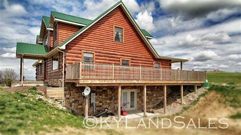 Kentucky Log Cabins by Log Cabin Home For Sale In Kentucky 16 Acres Views