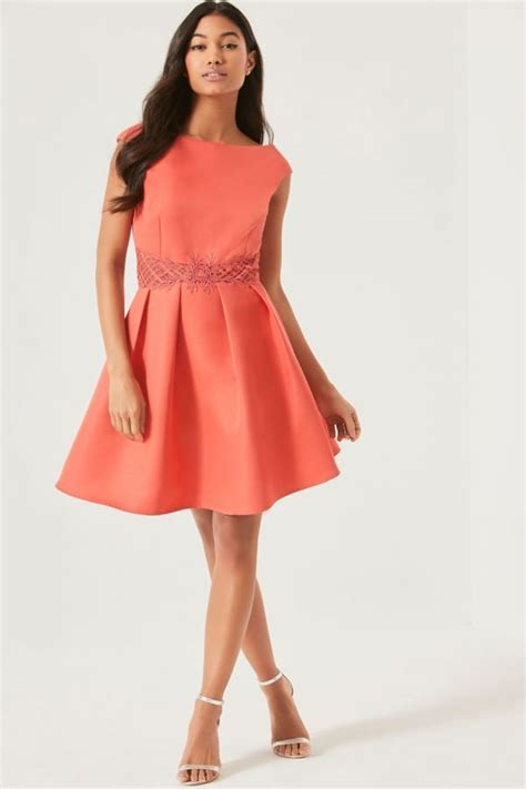 dress pink fit l pink fit and flare dress from uk