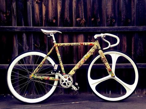 Bike Sticker Work Photos by Sticker Bombed Fixie Follow Us Fetchftw Or Visit Us
