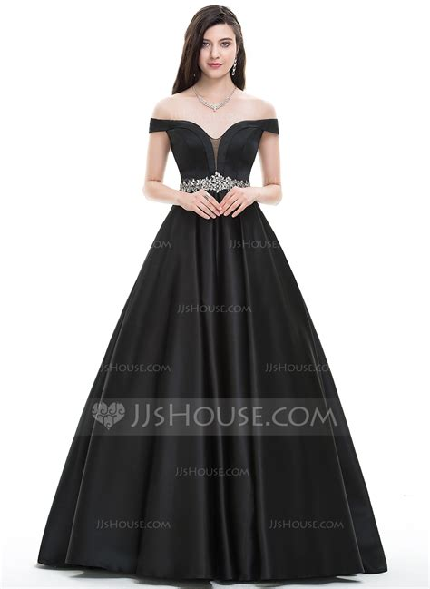 Dress Design For Js Prom | ball gown off the shoulder floor length satin prom dress