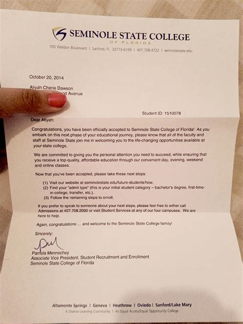 Junior College Acceptance Letter Fundraiser By Aliyah Dawson Year College Tuition
