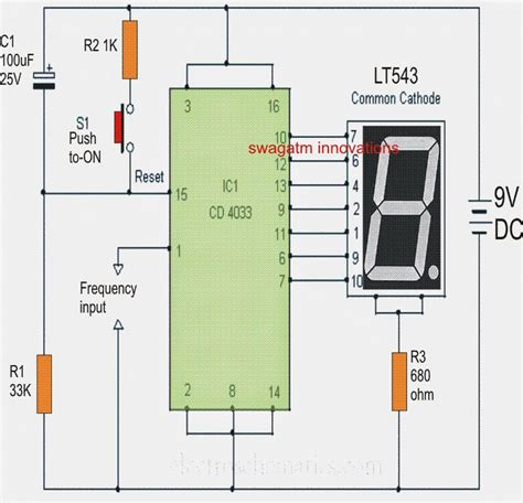 simple  ic frequency counter circuit elektroniikka