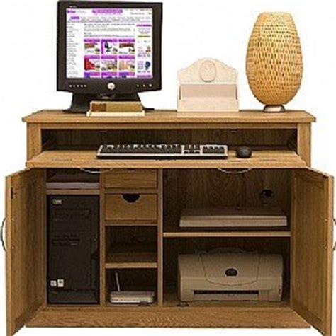 Laptop Hideaway Desk Cavalli Solid Oak Hideaway Computer Desk Co Uk Office Products