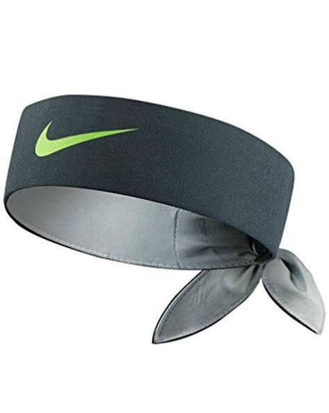 nike tie headband charcoal lime