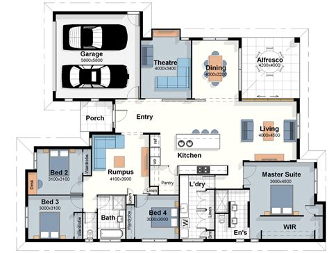 blueprint house plans the london house plan