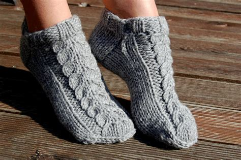 knitting slippers knitted wool slipper socks knit wool socks knit