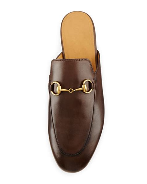 Slipper Import Gucci Lokk Alike gucci princetown leather horsebit mule slipper flat brown
