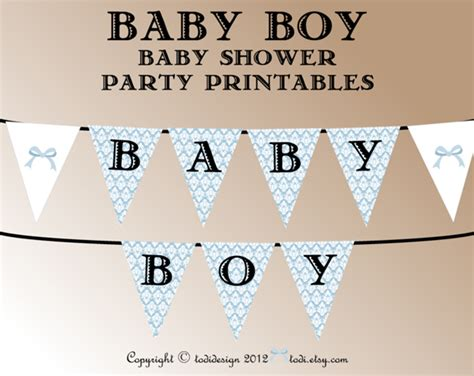 printable banners for baby shower todi oh boy