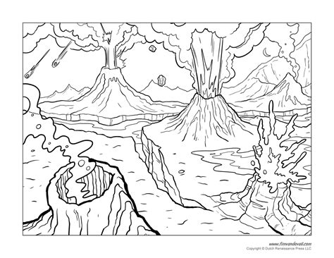 coloring page of volcano free coloring pages of volcano eruption
