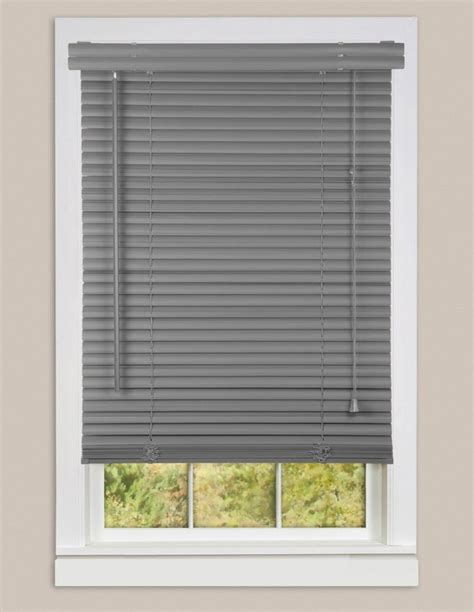 Inexpensive Blinds Inexpensive Mini Blinds 28x64 Vinyl Gray