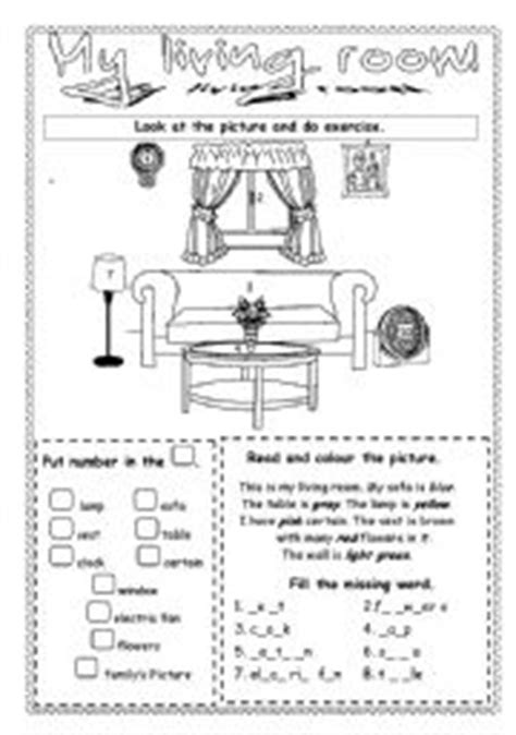 Living Room Worksheets Esl Worksheets My Living Room