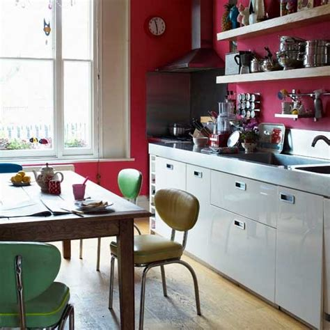 retro kitchen ideas red retro kitchen kitchen ideas shelving housetohome