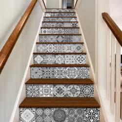 escalier d 233 calcomanies carreaux portugais pack avec 48