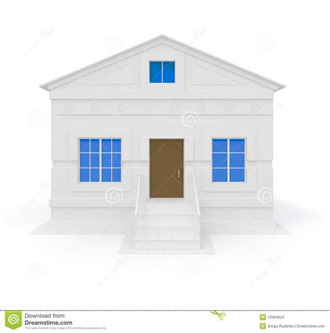 blue house with a blue window white house with blue windows stock images image 10364624