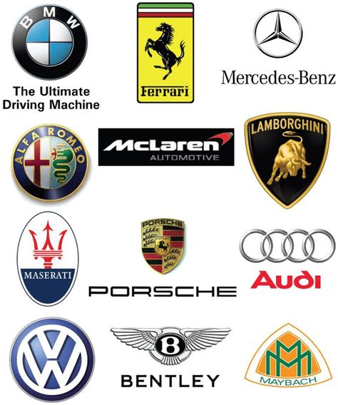 car logos european marques vector car logo daquan car logo
