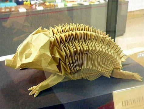 Origami Hedgehog - 35 amazing exles of origami artworks