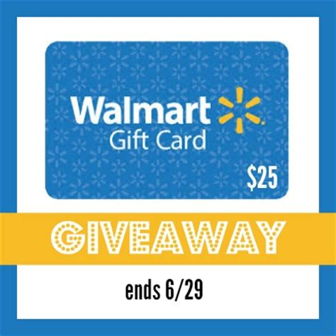 How To Win A Walmart Gift Card For Free - walmart gift card giveaway win 25