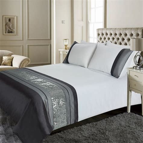 dallas sequin double duvet set 296292 b m