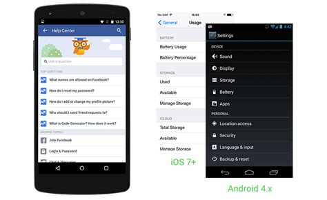 android help center app on android how far is it from official ui guidelines
