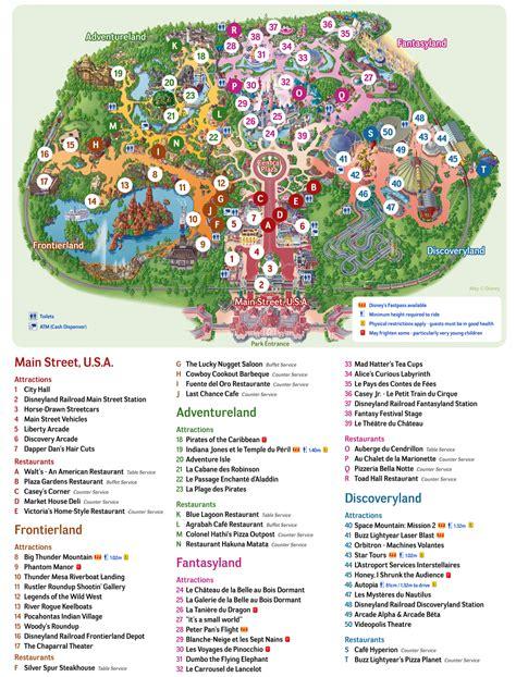 print layout en francais plan et carte de disneyland paris et walt disney studios