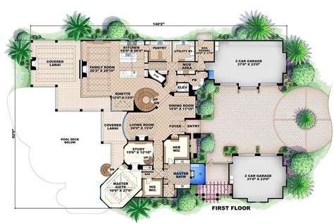 mediterranean style house plan 6 beds 7 5 baths 16783 sq