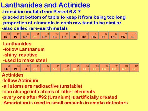 Where Are The Lanthanides Placed On The Periodic Table by Periodic Table Grouping Elements Ppt