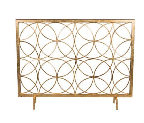 Gold Fireplace Screens antique gold circles firescreen home decor