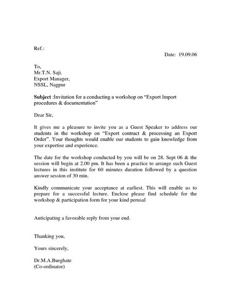 business letter sle meeting request business invitation letter sle to invite for a meeting