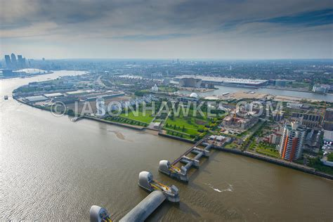 thames barrier viewing point aerial view aerial view of the thames barrier london