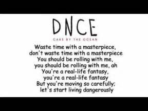 dnce cake by the ocean lyrics youtube