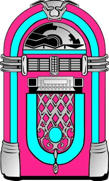 jukebox clipart pink and blue jukebox 2 clip at clker vector
