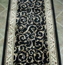 Runner Area Rug Black Design Runner Rug Carpet Home Furnishings Ideas