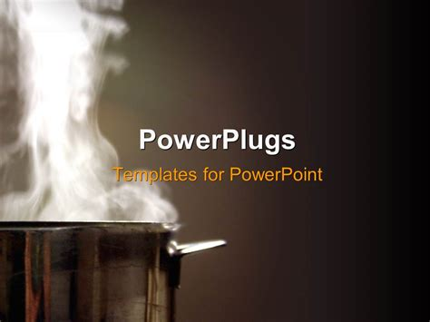 powerpoint themes kitchen powerpoint template aluminium pot with white steam rising