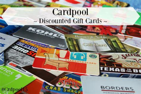 Cardpool Gift Cards - cardpool discounted gift cards plus giveaway crdpool15 pink ninja blogger
