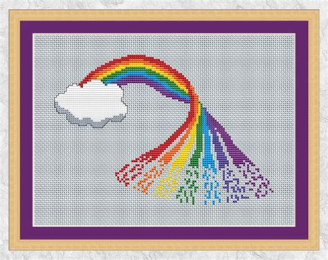 6 best images of printable counted cross stitch patterns rainbow cross stitch pattern printable counted cross stitch