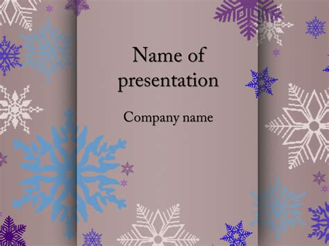 free snowflakes powerpoint template for your