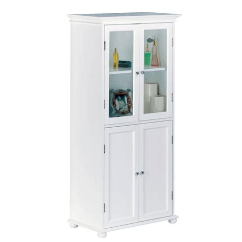 Cabinet For Bathroom Storage Home Decorators Collection Hton Harbor 25 In W X 14 In D X 52 1 2 In H Linen Cabinet In