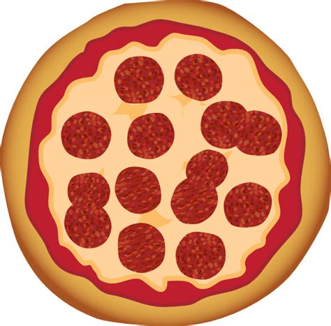 clipart pizza pepperoni pizza clip at clker vector clip
