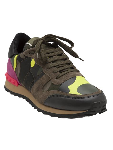 valentino sneakers valentino camouflage sneakers in green lyst