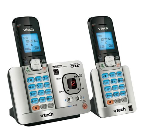 call house phone amazon com vtech ds65212 dect 6 0 2 handset landline telephone with caller id call waiting