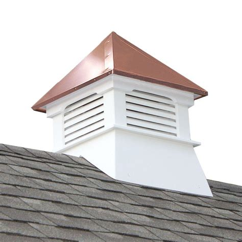 Vinyl Cupolas For Sale accentua teton 20 in x 20 in x 26 in composite vinyl cupola with copper roof tec the home depot