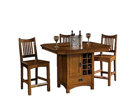 slumberland counter height table mission pointe gathering table and 4 stools future place