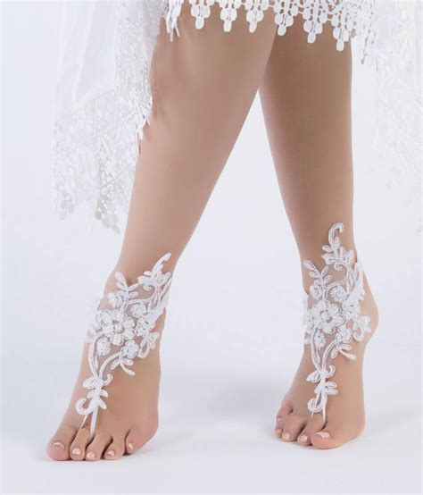 Lace Sandals Wedding by Ivory Lace Barefoot Sandals Wedding Barefoot Sandals